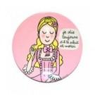 Assiette décorée Princesse Soledad Bravi rose s'il te plaît