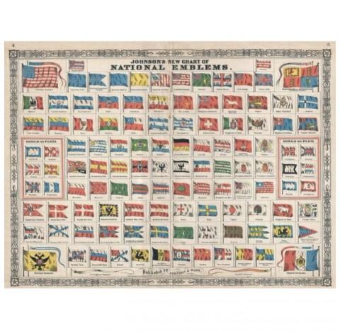 Puzzle de 1000 pièces vintage sur les drapeaux du monde.