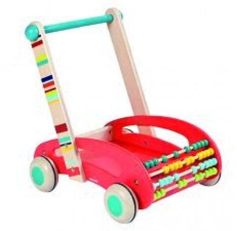 Chariot de marche ABC Buggy et ses 30 cubes en bois