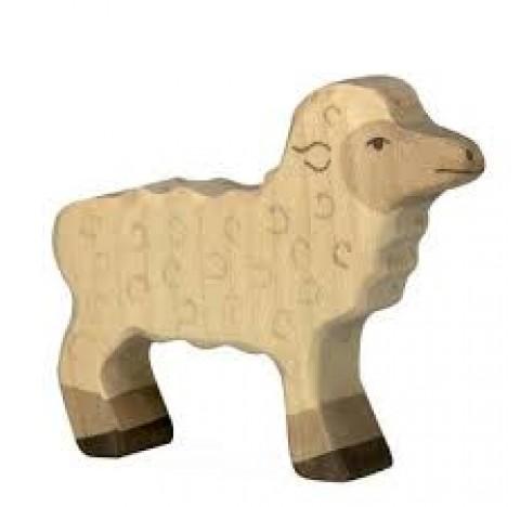 Jouet Mouton en bois, idéal pour la crèche de Noël