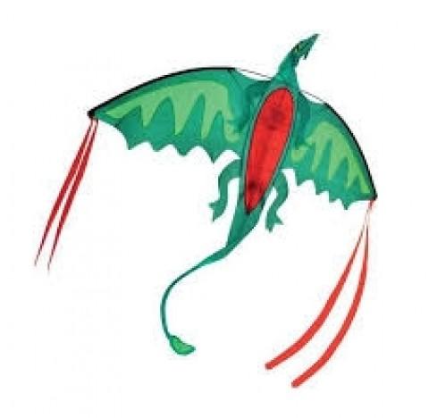 Grand cerf-volant en forme de dragon, envergure plus de 1 mètre 50