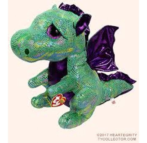 Peluche Beanie boo's large -Cinder le dragon  TY