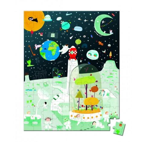 """Puzzle """"mission spatiale"""" 100 pièces"""