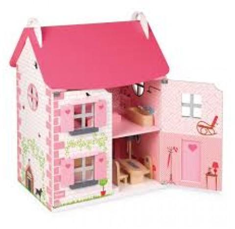 """Grande maison de poupées """"Mademoiselle"""", entièrement meublée"""