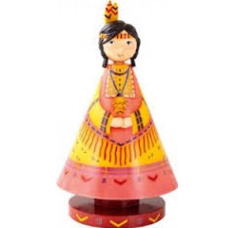 Luciole, lampe féerique, princesse indienne des plaines