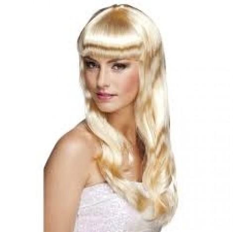 Perruque de cheveux longs et blonds