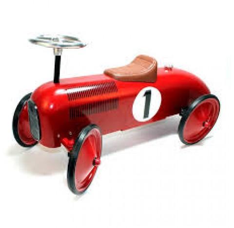 Ma première  Grande voiture de course porteur en métal rouge
