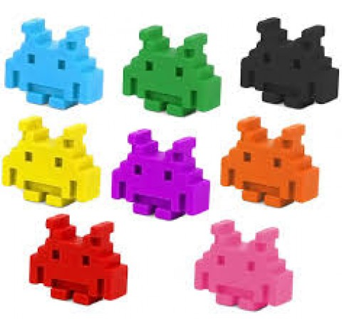 Crayons pastel Space Invaders