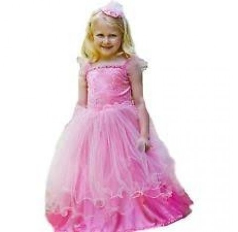Robe de princesse rose, Sweetheart,  triple jupon en tulle
