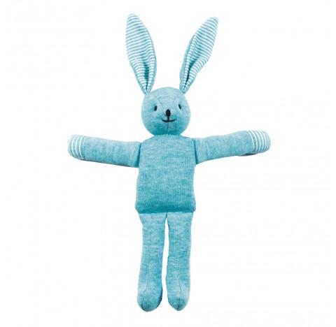 Doudou Lapin bleu en coton BIO