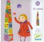 """Pyramide carrée Jeu de cubes à empiler """" nature"""""""