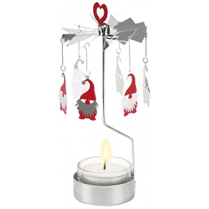 Magie de Noël: le carrousel photophore Père Noël