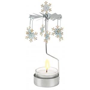 Magie de Noël: le carrousel photophore étoiles des neiges