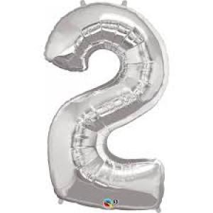 Gros ballon  gonflable à l'unité chiffre 2