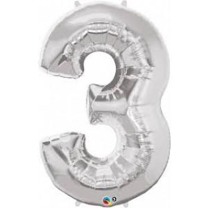 Gros ballon  gonflable à l'unité chiffre 3