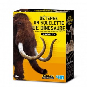 Kit de fouille dinosaure, je découvre la Préhistoire à travers des Mammouths