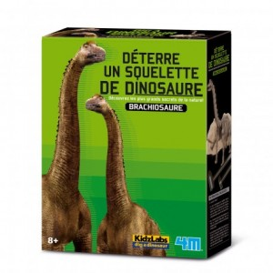 Kit de fouille dinosaure, je découvre les Brachiosaures