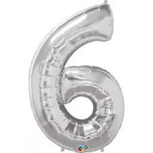 Gros ballon  gonflable à l'unité chiffre 6