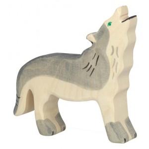 Jouet Loup en bois
