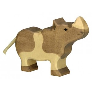 Jouet Bébé Rhinocéros en bois