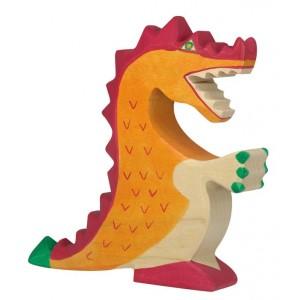 Jouet Dragon rouge en bois