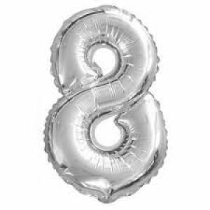Gros ballon  gonflable à l'unité chiffre 8