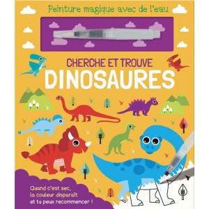 Cherche et trouve les dinosaures et peinture magique avec de l'eau