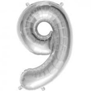 Gros ballon  gonflable à l'unité chiffre 9