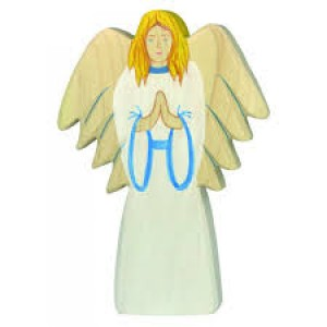 Figurine Archange en bois pour la crèche