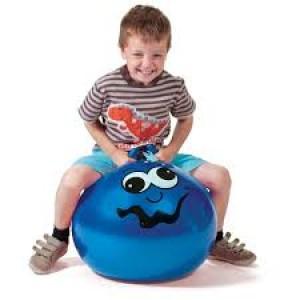 Ballon sauteur bleu, pour enfant énergique!