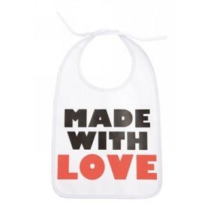 "Bavoir ""Made with love"", Fait avec  Amour"