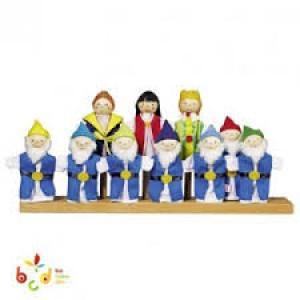10 marionnettes à doigt, pour raconter le conte de Blanche-Neige