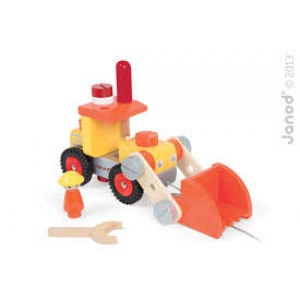 Camion bulldozer bien costaud et ses outils