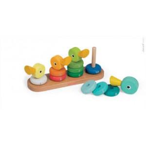 La famille canard empilable