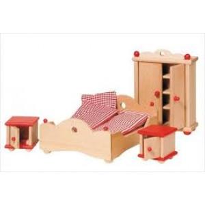 Meubles pour maison de poupée, la chambre à coucher