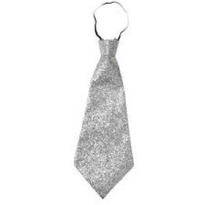 Cravate argentée