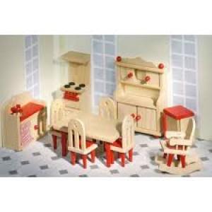 Meubles pour maison de poupée, la cuisine complète