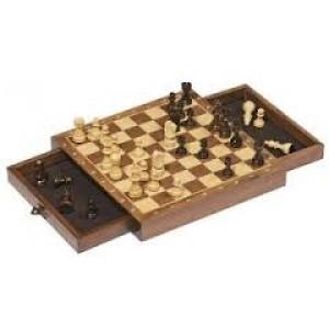 Jeu d'échecs magnétique en bois
