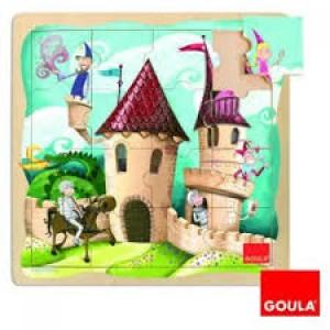 Puzzle château du chevalier 16 pièces en bois