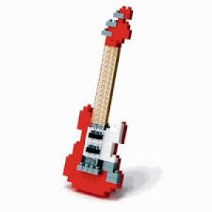 Nanoblock la guitare électrique rouge