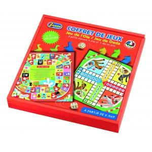 Coffret de jeux : jeu de l'oie et jeu de dada (chevaux)