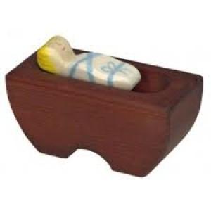 Figurine enfant Jésus en bois  pour la crèche