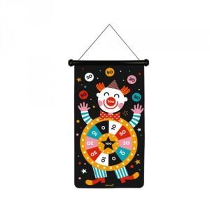 Jeu de fléchettes et cible  magnétiques clowns et cirques