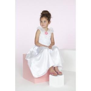 Robe de reine des neiges ou de mariée en satin blanc