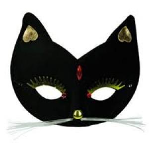 Masque de carnaval chat noir