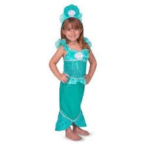 Déguisement princesse sirène  étincelante avec tiare