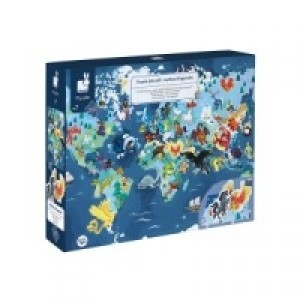 Puzzle éducatif complet 200 pièces  les animaux menacés