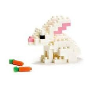 Nanoblock le lapin blanc et sa carotte