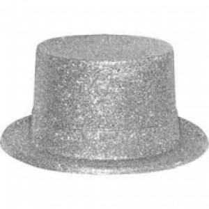 Chapeau à paillettes argenté