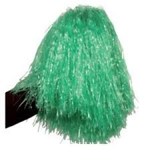 POM-POM en raphia nylon vert